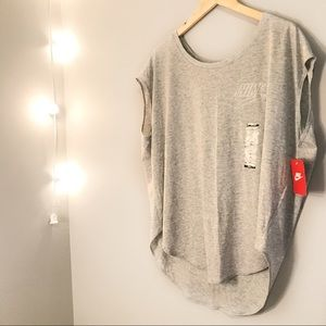NWT Grey Nike Sleeveless Top